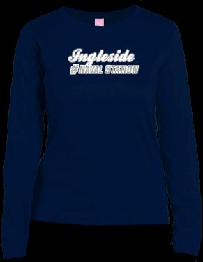 Ingleside Naval Station Lat Ladies' Combed Ringspun Jersey Long-sleeve T-shirt   KART KONG