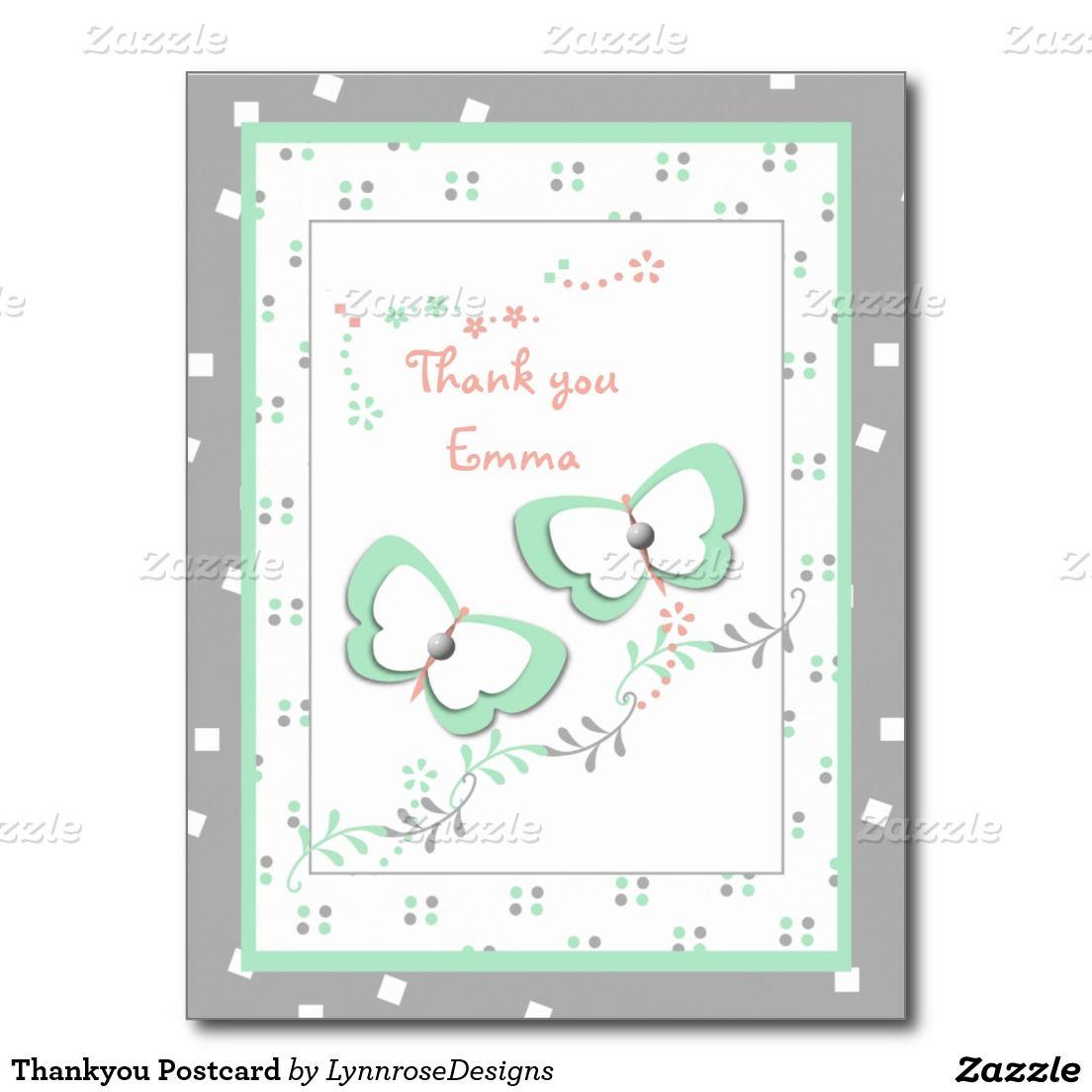 Thankyou Postcard