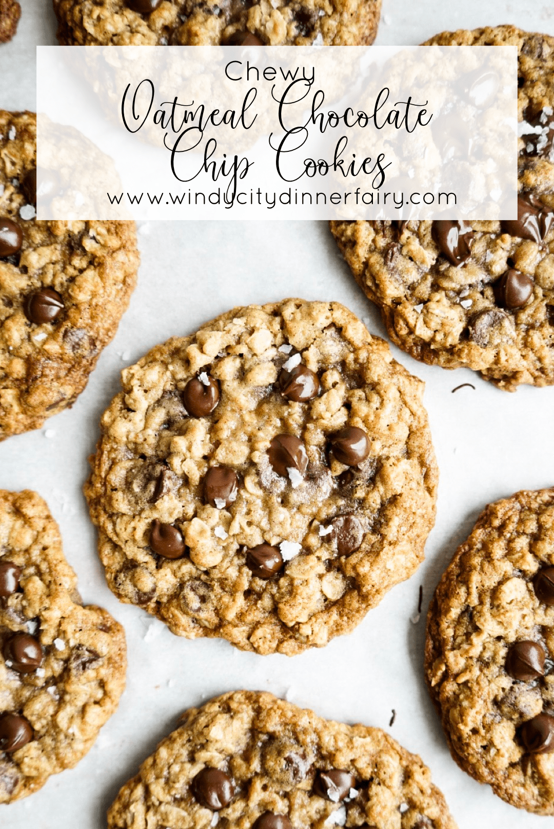 Chewy Oatmeal Chocolate Chip Cookies - The Windy City Dinner Fairy