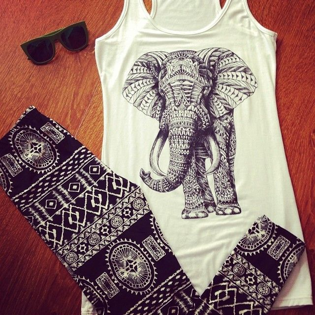 febb582570b4d elephant tank top and happy pants found right here in Chiang Mai ...