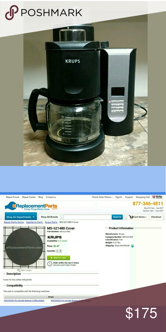 Krups km7005 coffee maker grinder combo For sale is a