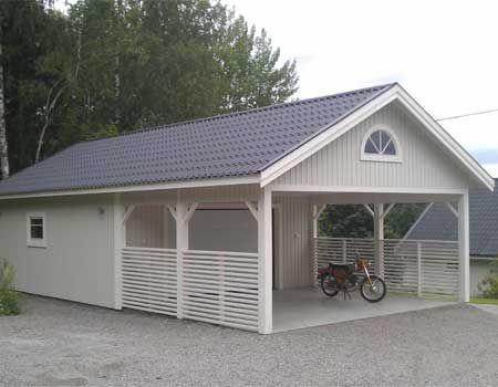 Garage Med Carport Och Forrad Sok Pa Google Backyard Remodel