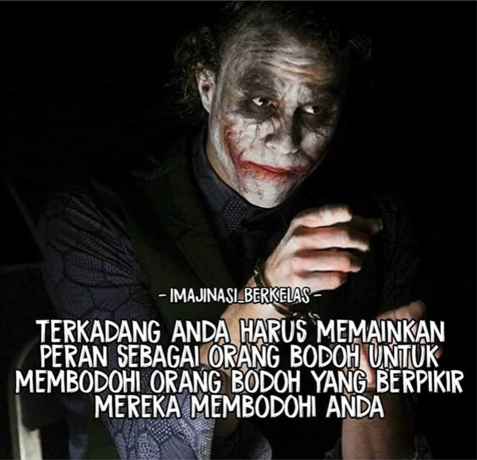 14 Kata Kata Quotes Joker Cinta Di 2020 Dengan Gambar Joker