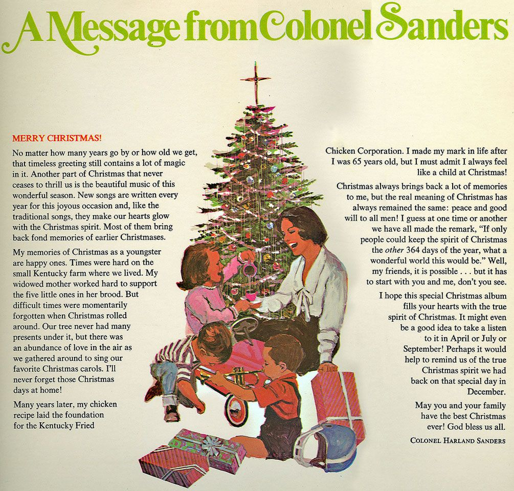 Christmas with Colonel Sanders\', 1968 - Retronaut | Colonel Sanders ...