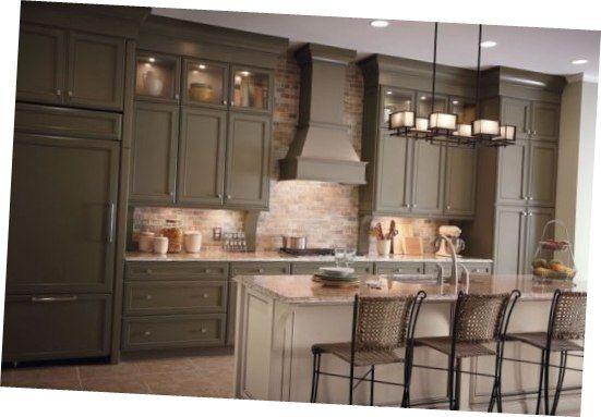 Wonderful Merillat Kitchen Cabinets Dark Olive Green