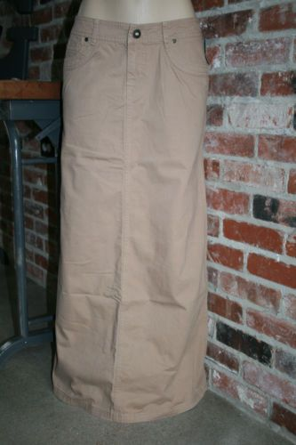 NEW~MAURICES Long STRAIGHT Khaki Tan SKIRT~Size 17/18~NWT $36~modest career work
