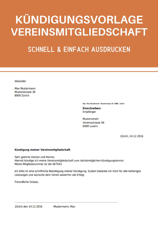 Vereinsmitgliedschaft Kundigen Vorlage Zum Downloaden In 2020 Kundigung Schreiben Kundigung Wohnungskundigung