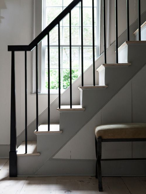 Staircase Farmhouse Entry Rustic Stairs Modern
