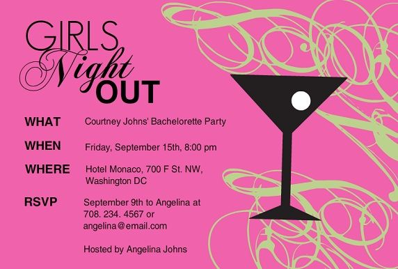 Girls night invitation wording pink martini girls night gather the ladies for a girls night out with wild party invitations by purpletrail our girls night party invitations are sexy and sassy like you stopboris Images