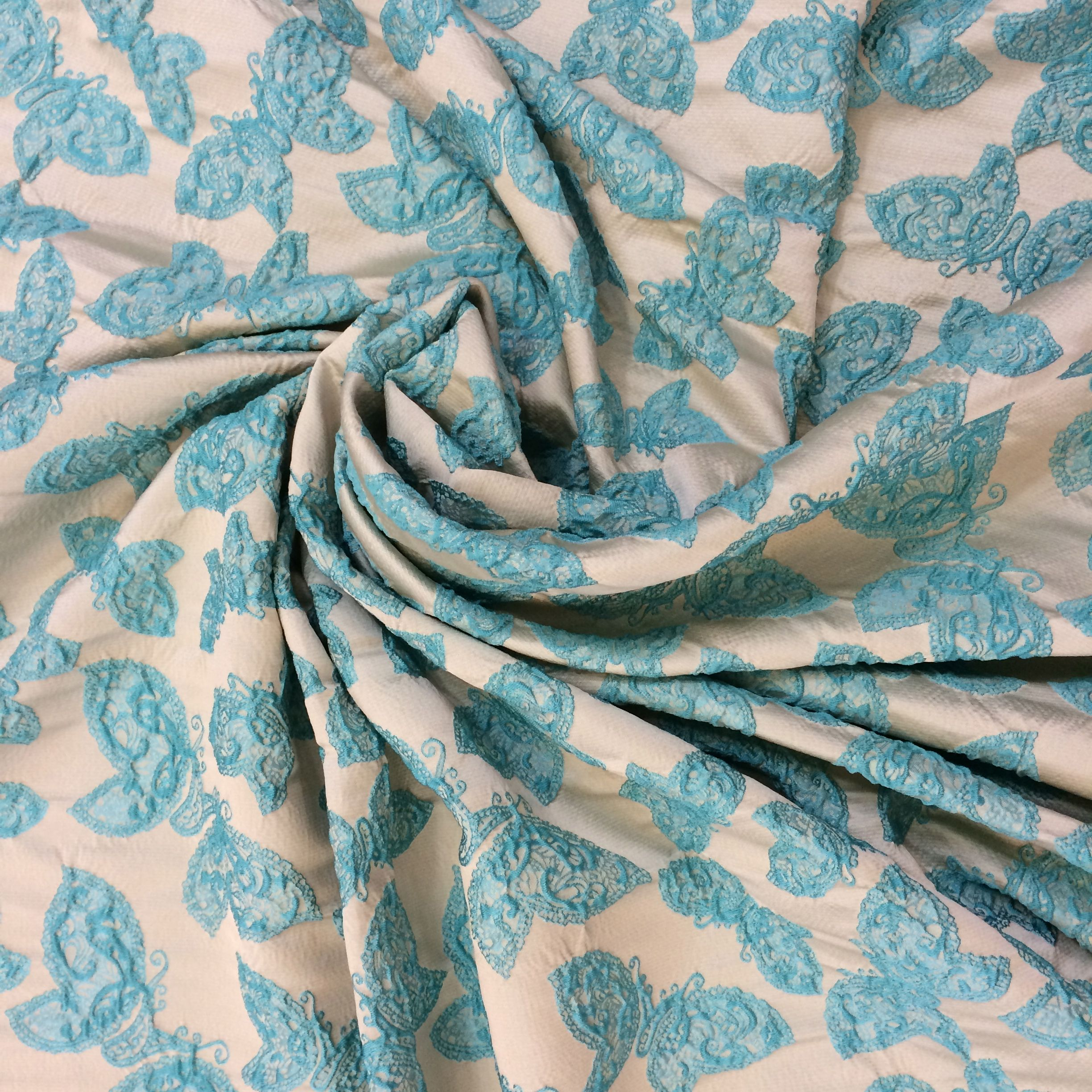 Haute couture luxury jacquard viscose fabric buy online, printed floral fabric, fashion designer dresses, made in Italy