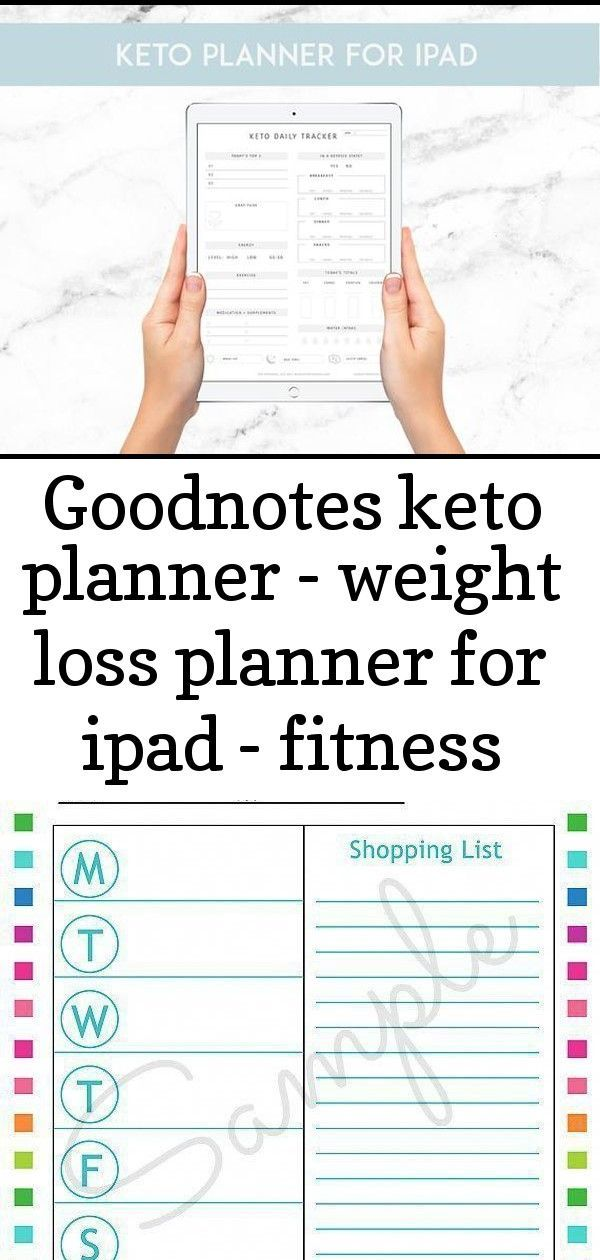 #Fitness #GoodNotes #ipad #Keto #Loss #planner #PRINTABLE #Weight GOODNOTES KETO PLANNER - Weight lo...