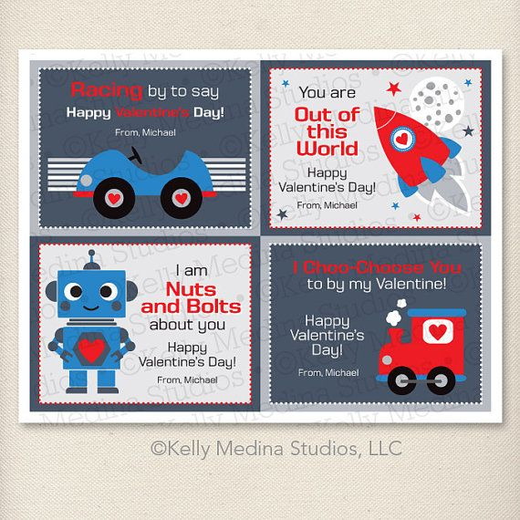 17 Best images about Robots – Valentines Cards for Boys