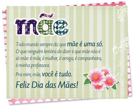 Mensagens Para O Dia Das Mães Mensagem Dia Das Mães Mensagem Para O Dia Mensagens