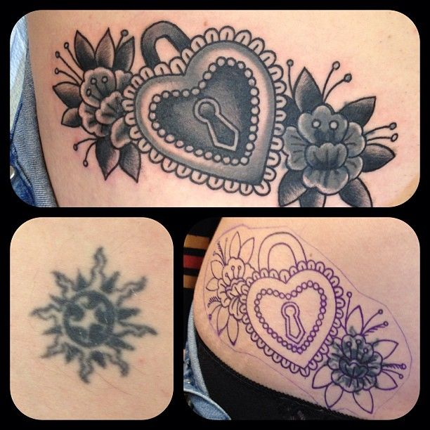 203183e5b Cover up tattoo | Cover Up Tattoos | Tattoos, Lock tattoo, Cover up ...