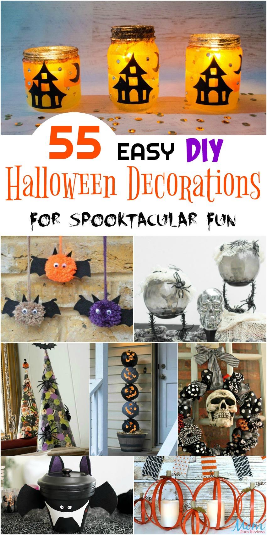 55 Easy Diy Halloween Decorations For Spooktacular Fun Easy Diy Halloween Decorations Diy Halloween Decorations Easy Diy Halloween