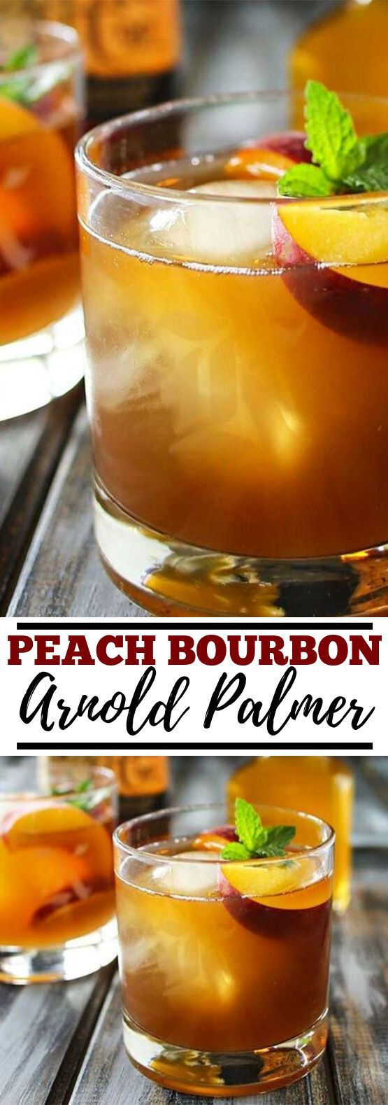 Peach Bourbon Arnold Palmer #drinks #alcohol #boissonsfraîches