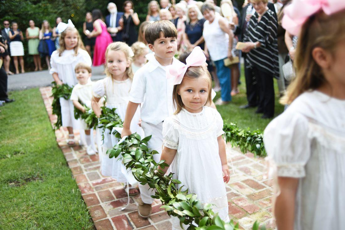 PHOTO CREDIT TO VISUALS BY HELEN  Weissinger-Biesemier Wedding Garland Children in wedding