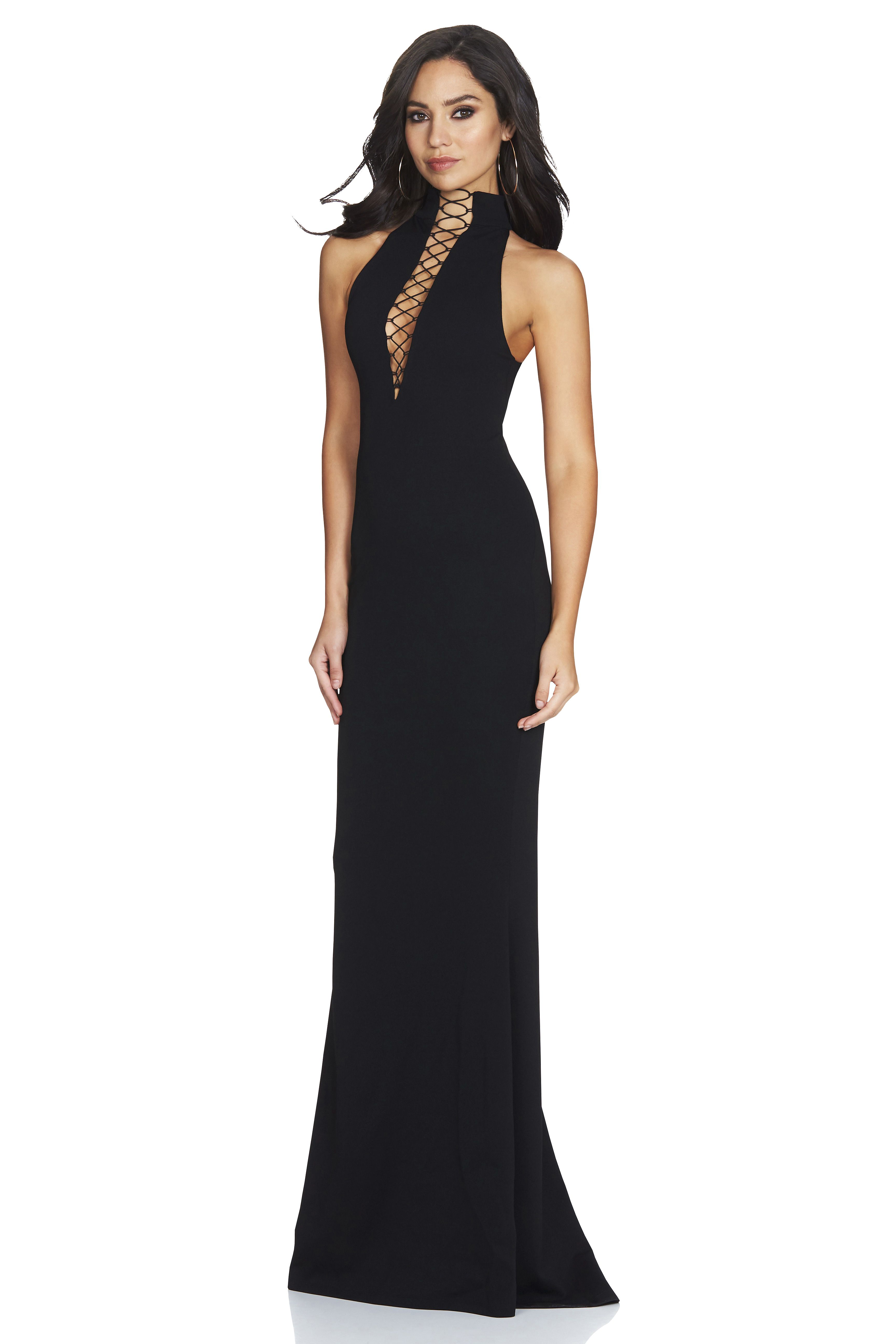 Whitney lace up gown gowns australia and black