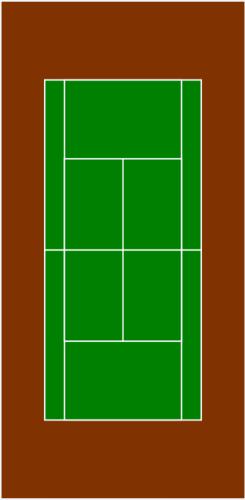 Tennis Court Vector Illustration Public Domain Vectors Clip Art Free Clip Art Vector Illustration