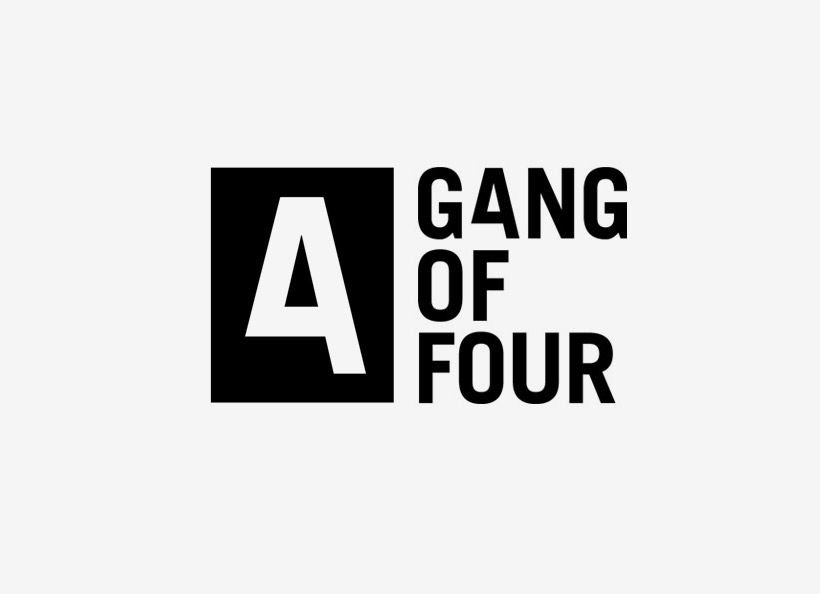 """G4NG OF FOUR Identity ~ Hampus Jageland """"Gang of Four is a business which fuses brands with music. They asked for a confident, modern and bold identity system."""""""