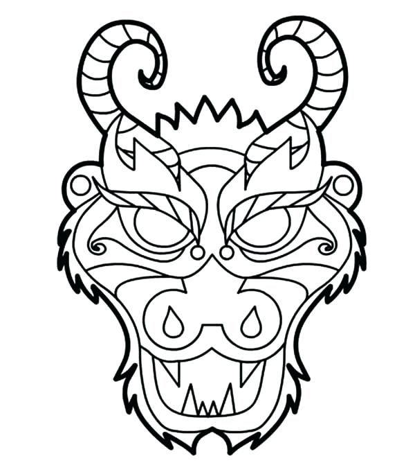 Dragon Mask Template | Chinese New Year Party | Pinterest | Dragon ...