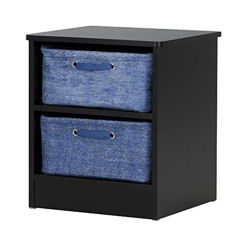 Kids' Nightstands - South Shore Libra Nightstand with 2 Baskets Pure Black *** To view further for this item, visit the image link.