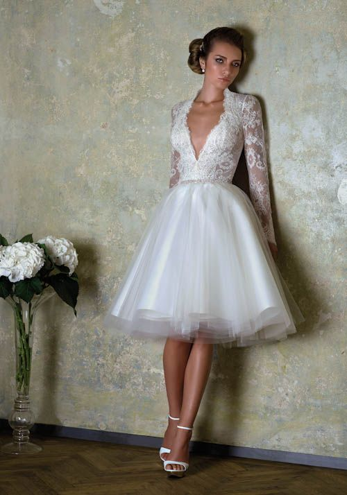 vestido de novia corto para boda civil | vestidos de novia