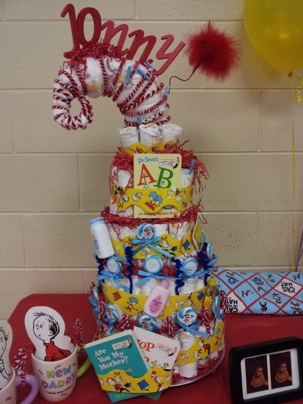 Dr Seuss Diaper Cake Seuss Baby Shower Dr Seuss Baby Shower