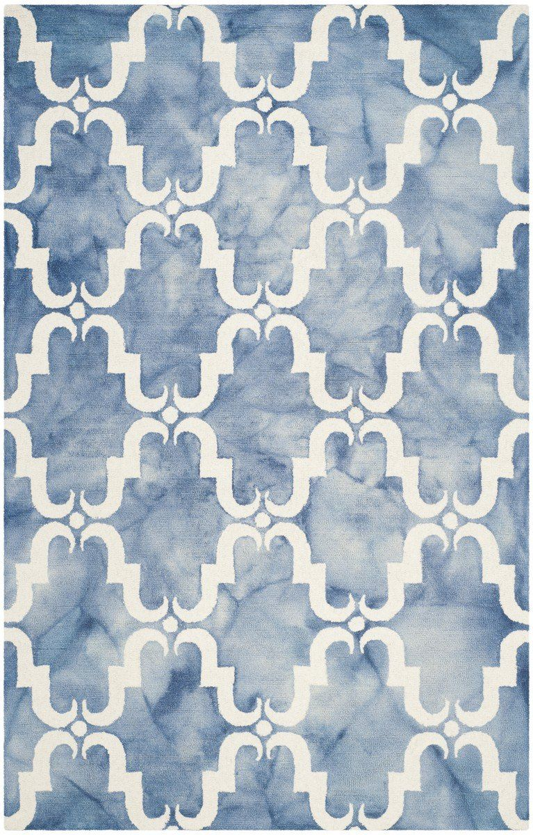 Safavieh Dip Dye Ddy536k Blue Ivory Colorful Rugs Blue Area Rugs Blue Ivory