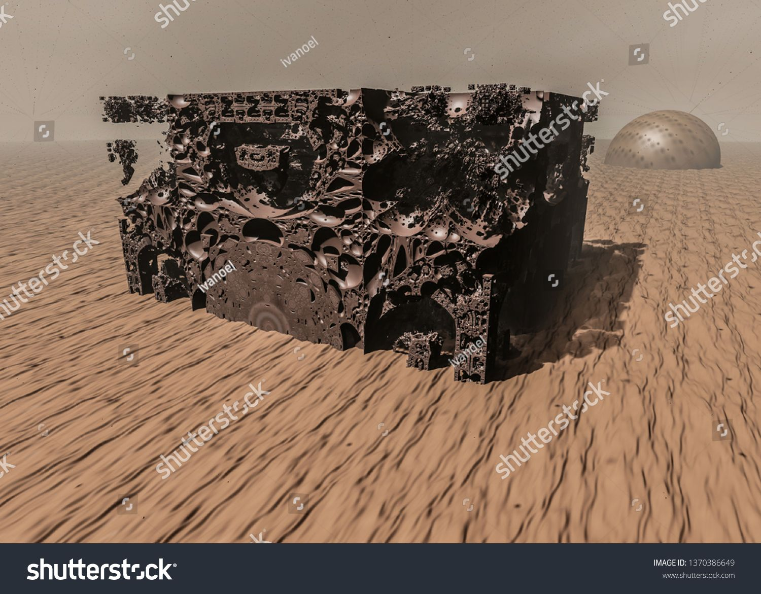 Surreal View Of The Red Planet Mars Destruction 3d Illustration On The Theme Of Space Planets Universe Travel And G Galactic Flyer Design Marketing Flyers