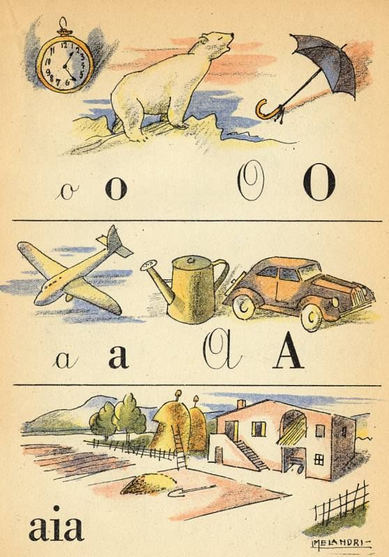 alfabetario anni 50
