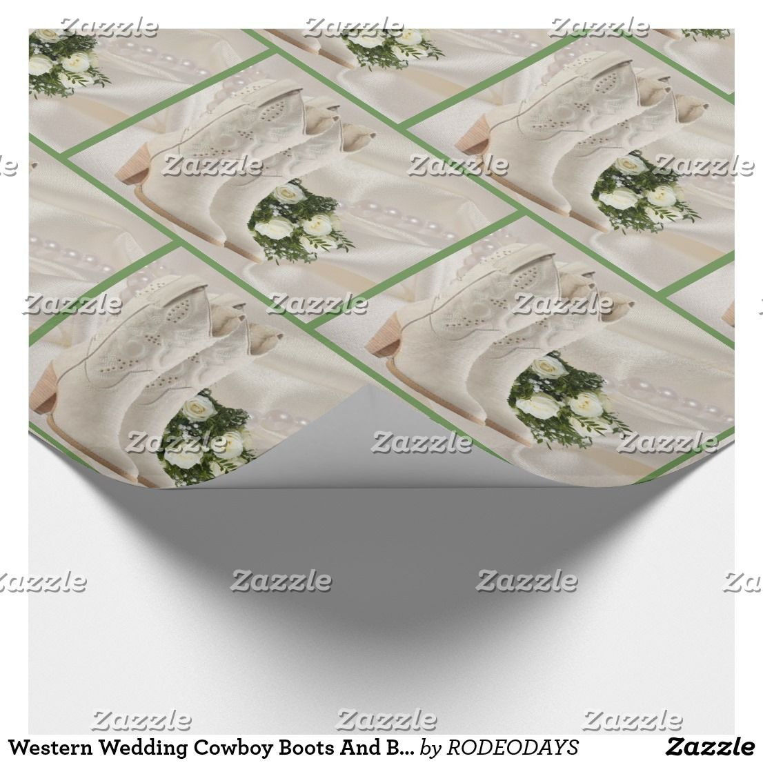 Western Wedding Cowboy Boots And Bouquet Gift Wrap | WESTERN GIFT ...