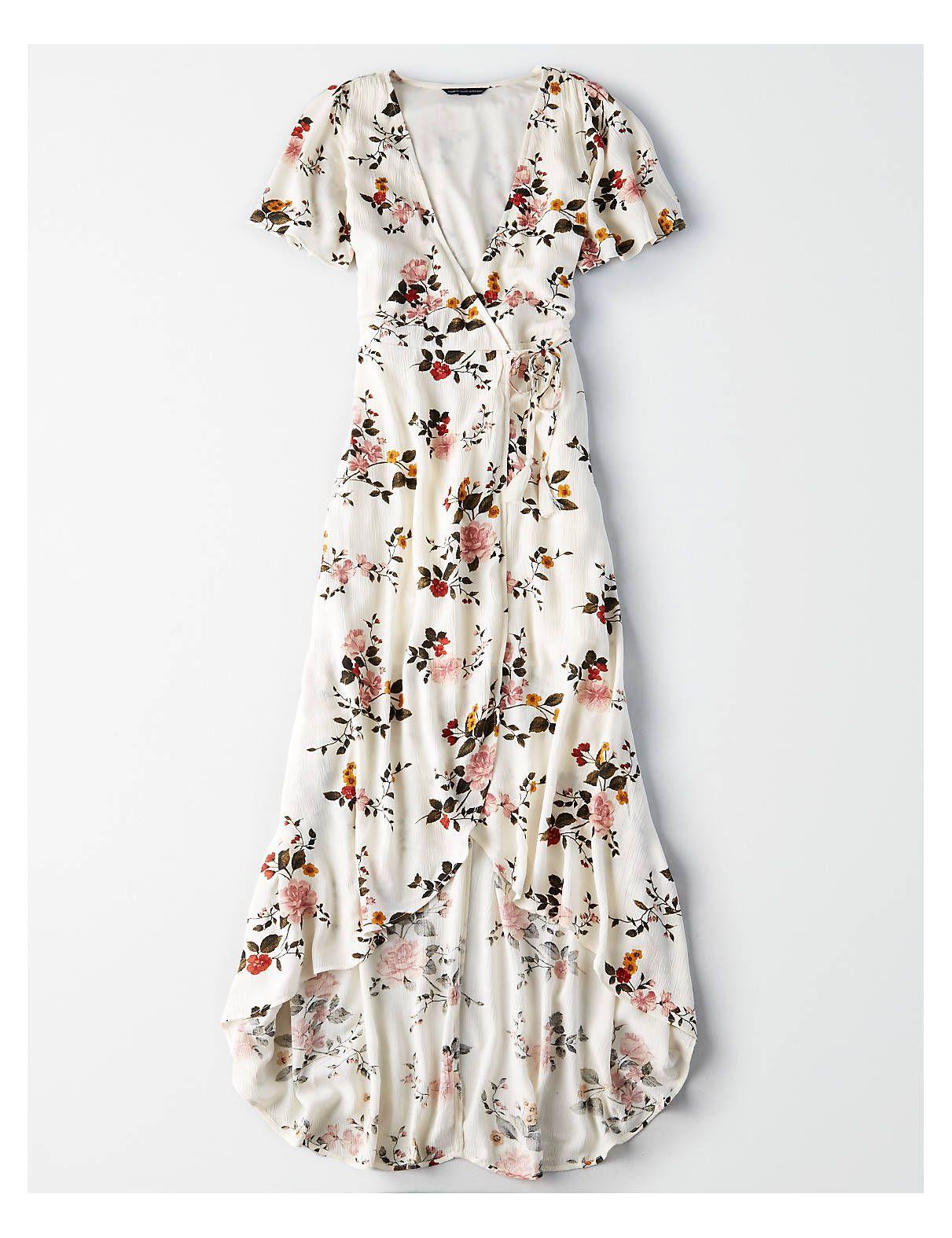 bf9153ea25a AE High-Low Maxi Wrap Dress