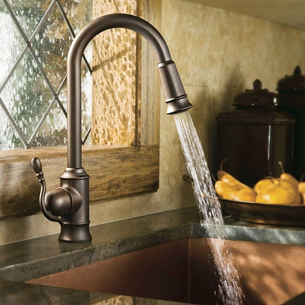 kitchen bronze faucet regarding foremost portnoy full size with ...
