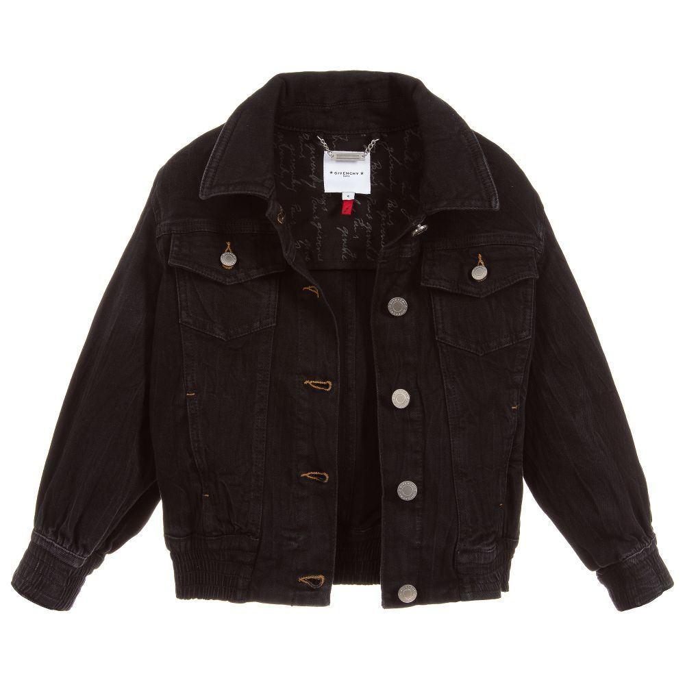 Givenchy Kids Girls Black Denim Jacket Girls Black Jeans Black Denim Jacket Jackets [ 1000 x 1000 Pixel ]