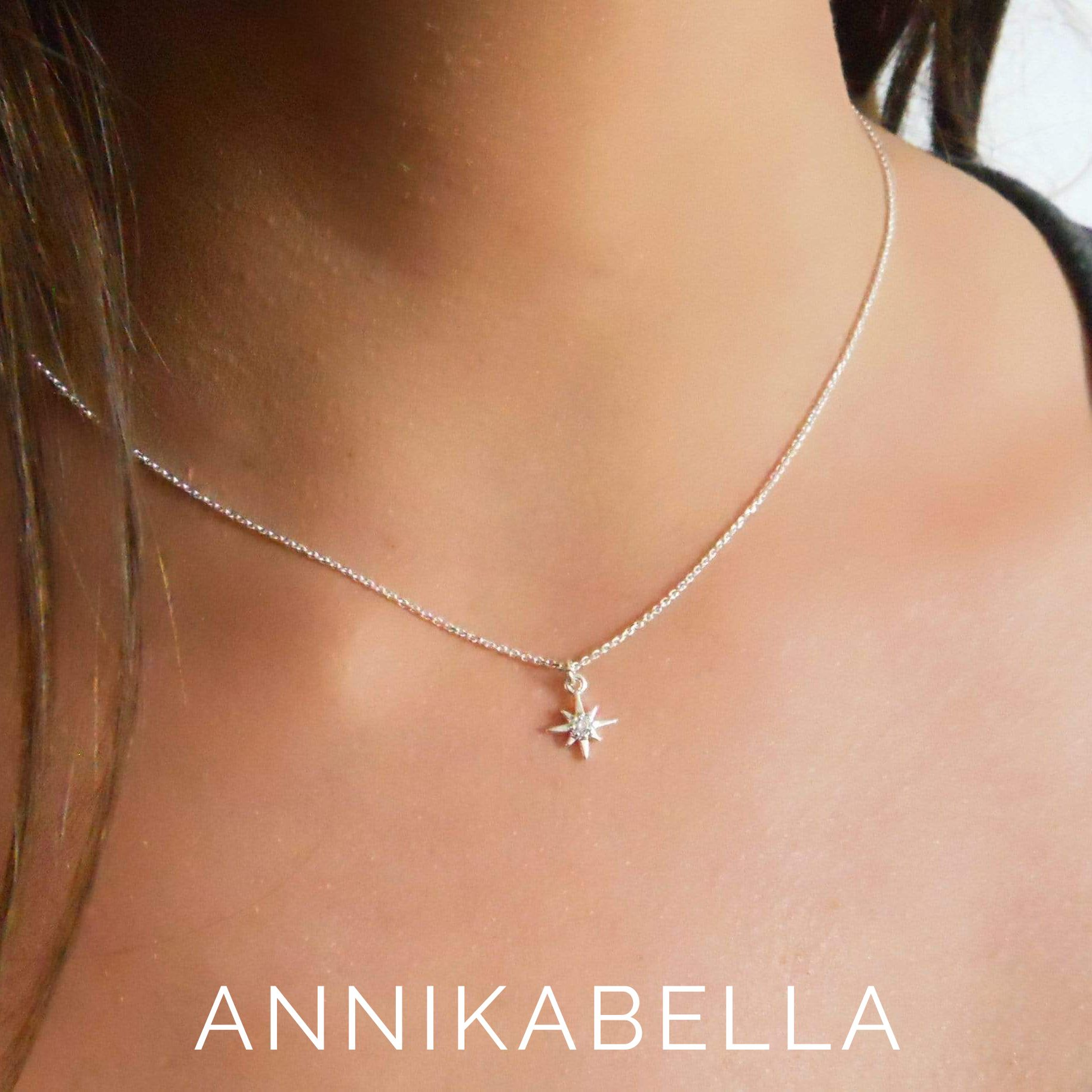 Satellite Chain Necklace with Natural Turquoise Beads Turquoise Bar Necklace for Women Sterling Silver Choker Handmade Jewelry by Annikabella