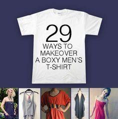 29 maneras de transformar una camiseta de hombre