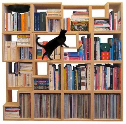 Book Shelf Cat Tower