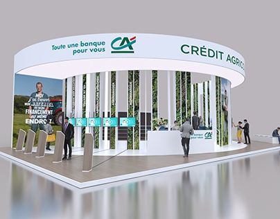 Exhibition Booth Sia : CrÉdit agricole sia exhibition stand exhibition booth design