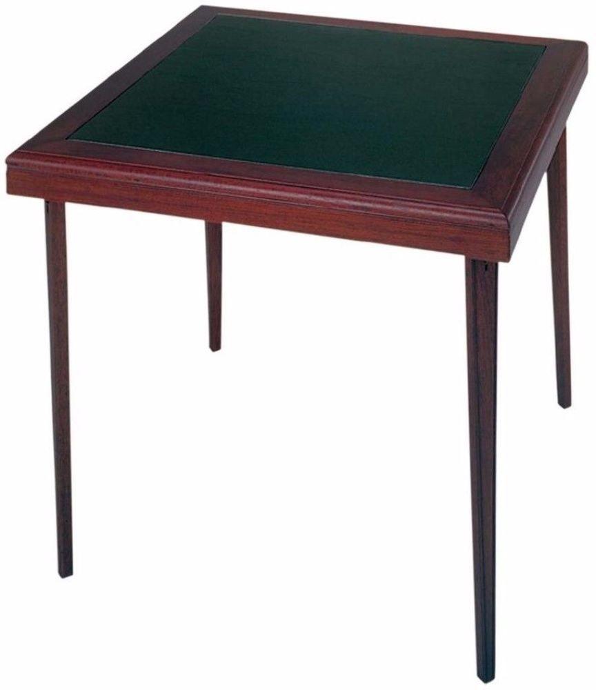 32 in x 32 in square wood vinyl folding table dark