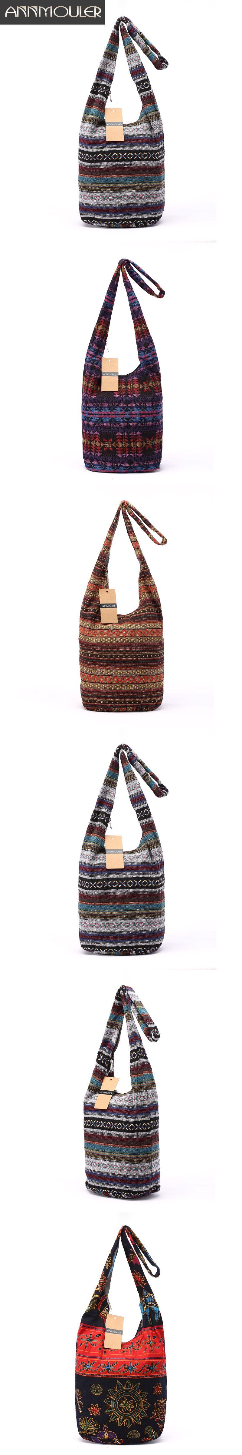 e1ea0d128221 Women Vintage Shoulder Bag Mochila Retro Weave Fabric Messenger Bag  Bohemian Style Hippie Aztec Folk Tribal Crossbody Bag