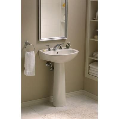 Captivating STERLING Sacramento Vitreous China Pedestal Combo Bathroom Sink In White  With Overflow Drain