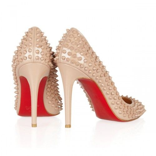 ea3eeca731b red bottom heels Pigalle Spikes pumps nude | Shoe Lovers | Christian ...