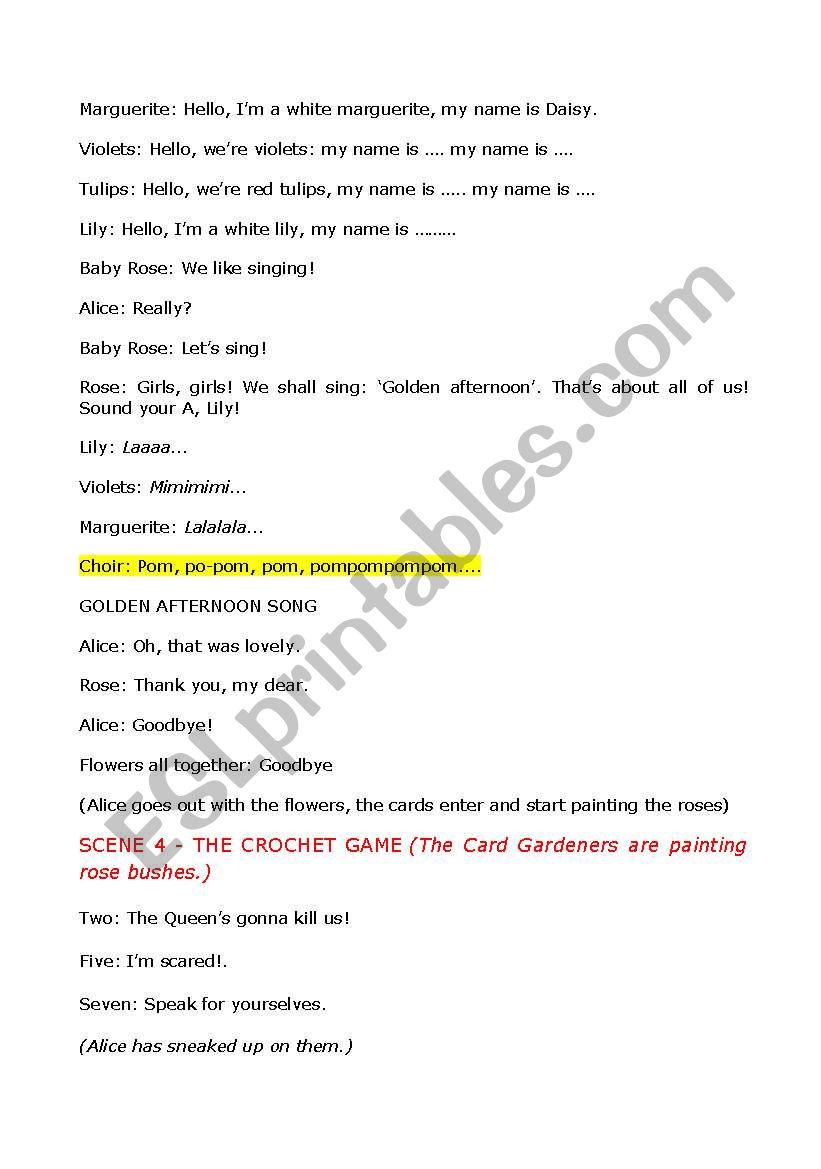 Alice In Wonderland Script For A Play Alice In Wonderland Script Reading Worksheets Alice In Wonderland [ 1169 x 821 Pixel ]