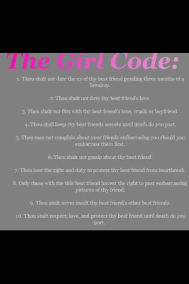 The 50 Rules Of Girl Code We All Need To Start Following Right This Second