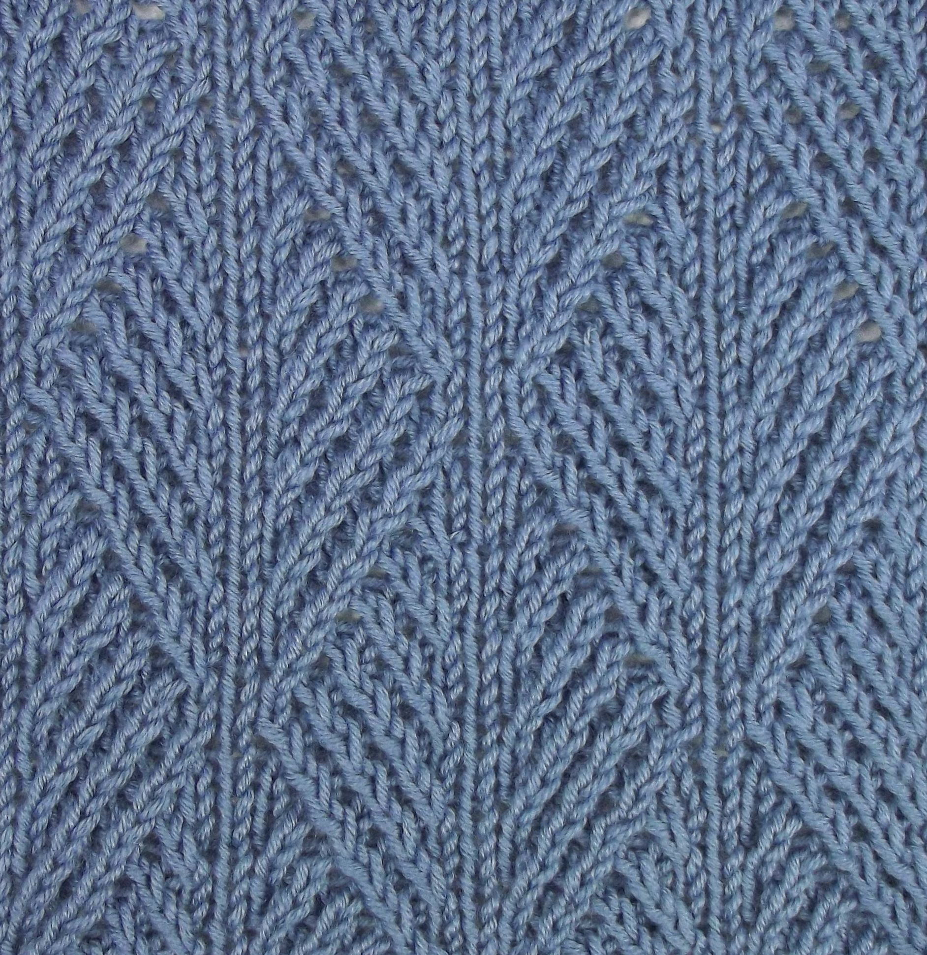 Ribbed Leaf Stitch Is Accomplished Using Twisted Stitches For An