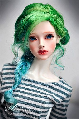 "Bjd ""Sea wave"" wig 