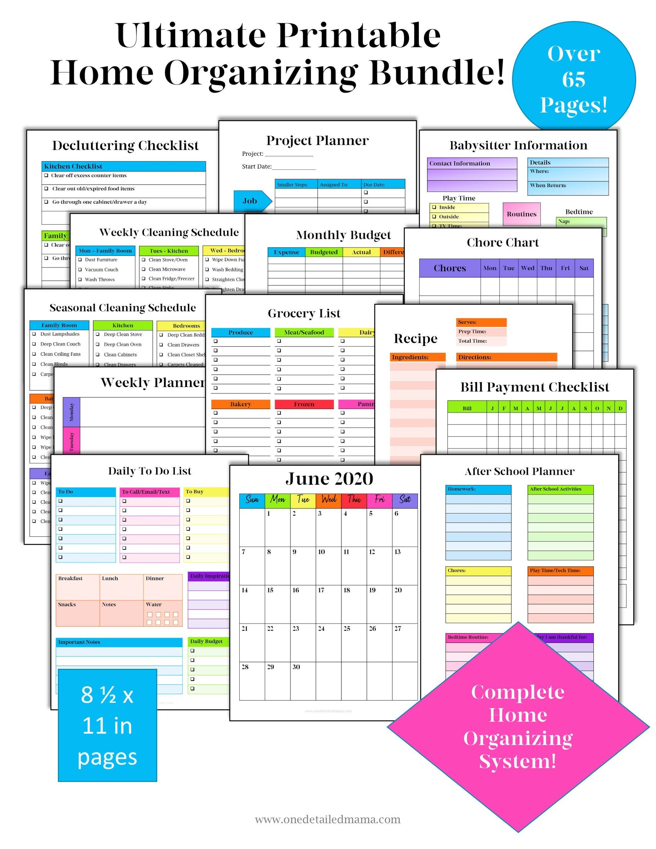 Excited To Share The Latest Addition To My Etsy Shop Home Management Binder Printable Planner House In 2020 Home Management Binder Household Binder Home Management