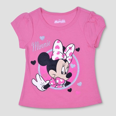 1b63d021ea34 Toddler Girls  3pk Disney Mickey Mouse   Friends Minnie Mouse Short Sleeve  T-Shirt - Pink White 5T