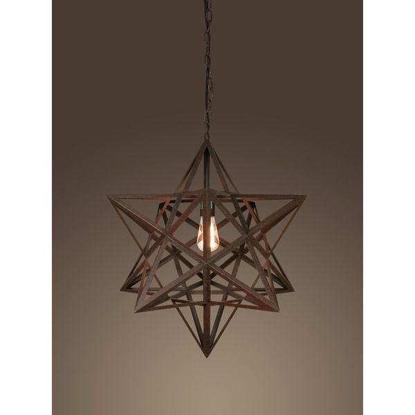 The red rust metal shade gives it a unique style that complements the rust finish. Dazzle your home guests with this rusty-style lighting fixture.  sc 1 st  Pinterest & Tamar 1-light Rusty-style Edison 20-inch Chandelier with Bulb ... azcodes.com